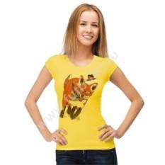 Женская футболка Лисица