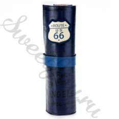 Кожаный пенал Route 66 – Dark Blue