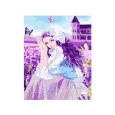 Картина по номерам «Девушка и бабочки»