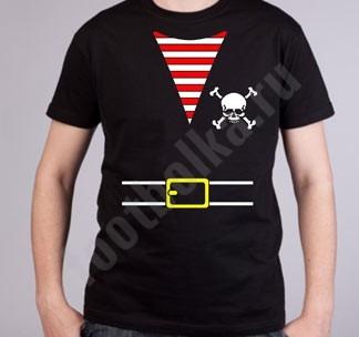 Мужская футболка Костюм пирата