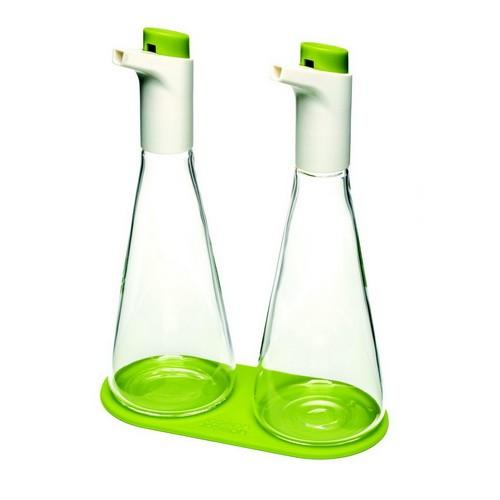 Набор емкость для масла и уксуса, зеленый, стекло