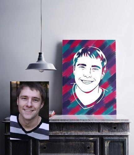 Набор для изготовления портрета по фотографии учителя