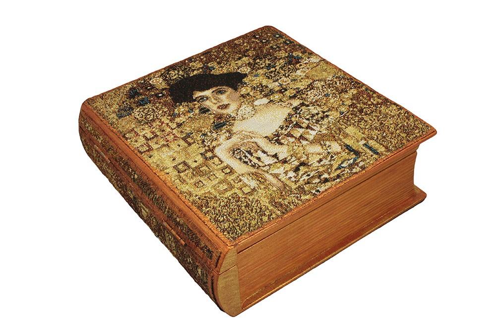 Шкатулка-книга с гобеленом Ожидание