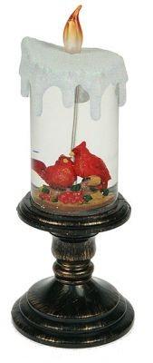 Декоративная водяная фигурка Свеча, с подсветкой