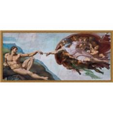 Репродукция на холсте Микеланджело «Сотворение Адама»