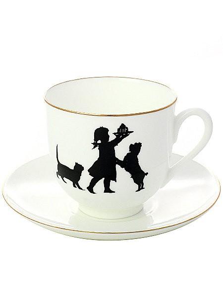 Кофейная чашка с блюдцем Именинница