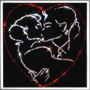 Картина из кристаллов Swarovski  Поцелуй влюбленных