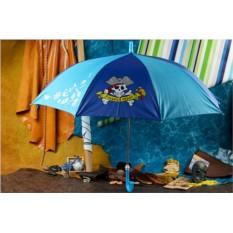 Детский сине-голубой зонт Eclat Пират со свистком
