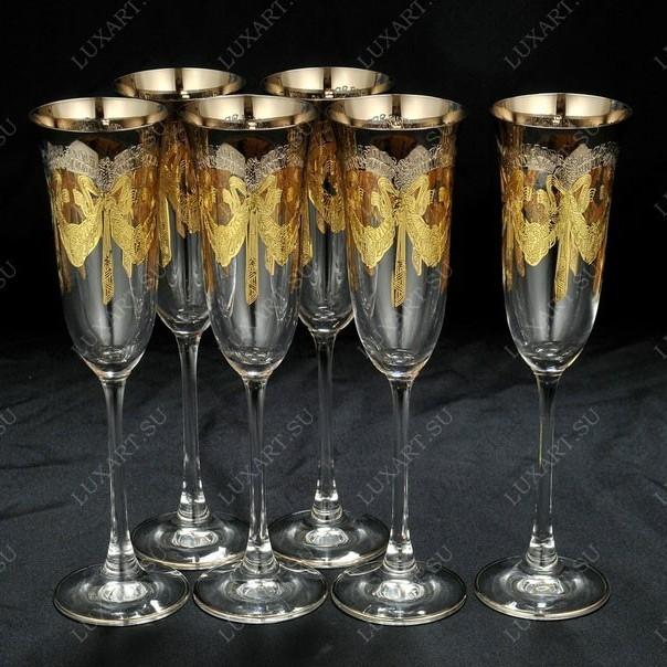 Набор из 6 бокалов для шампанского Same Cristallerie
