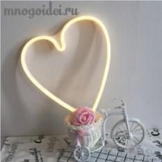 Настенный светодиодный декоративный ночник Неоновое сердце
