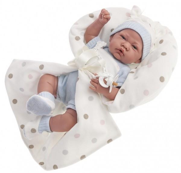 Озвученная кукла-младенец Санти в голубом