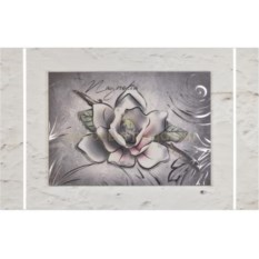Картина с посеребрением Цветок лотоса