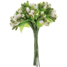 Украшение декоративное Зеленые цветочки