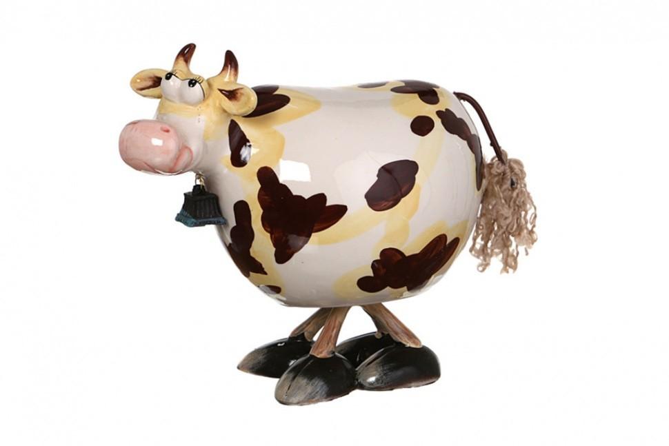 Статуэтка с качающейся головой Коричневая корова