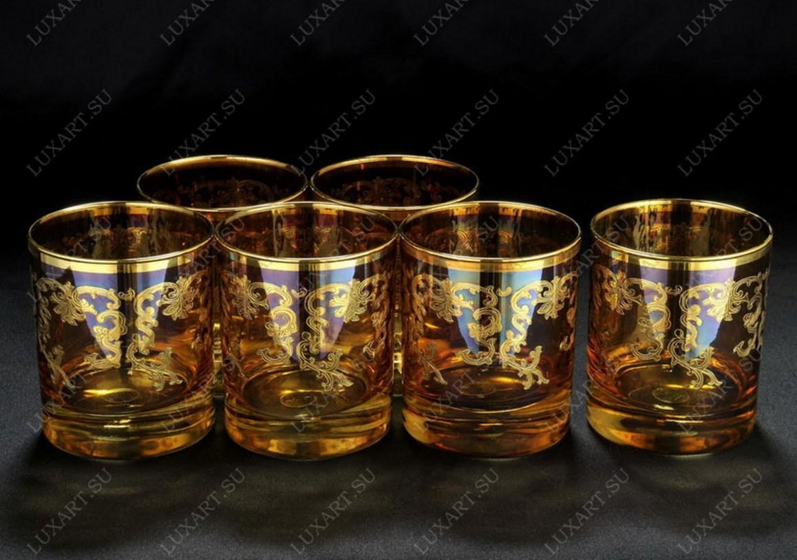 Хрустальный набор стаканов для виски из 6 штук