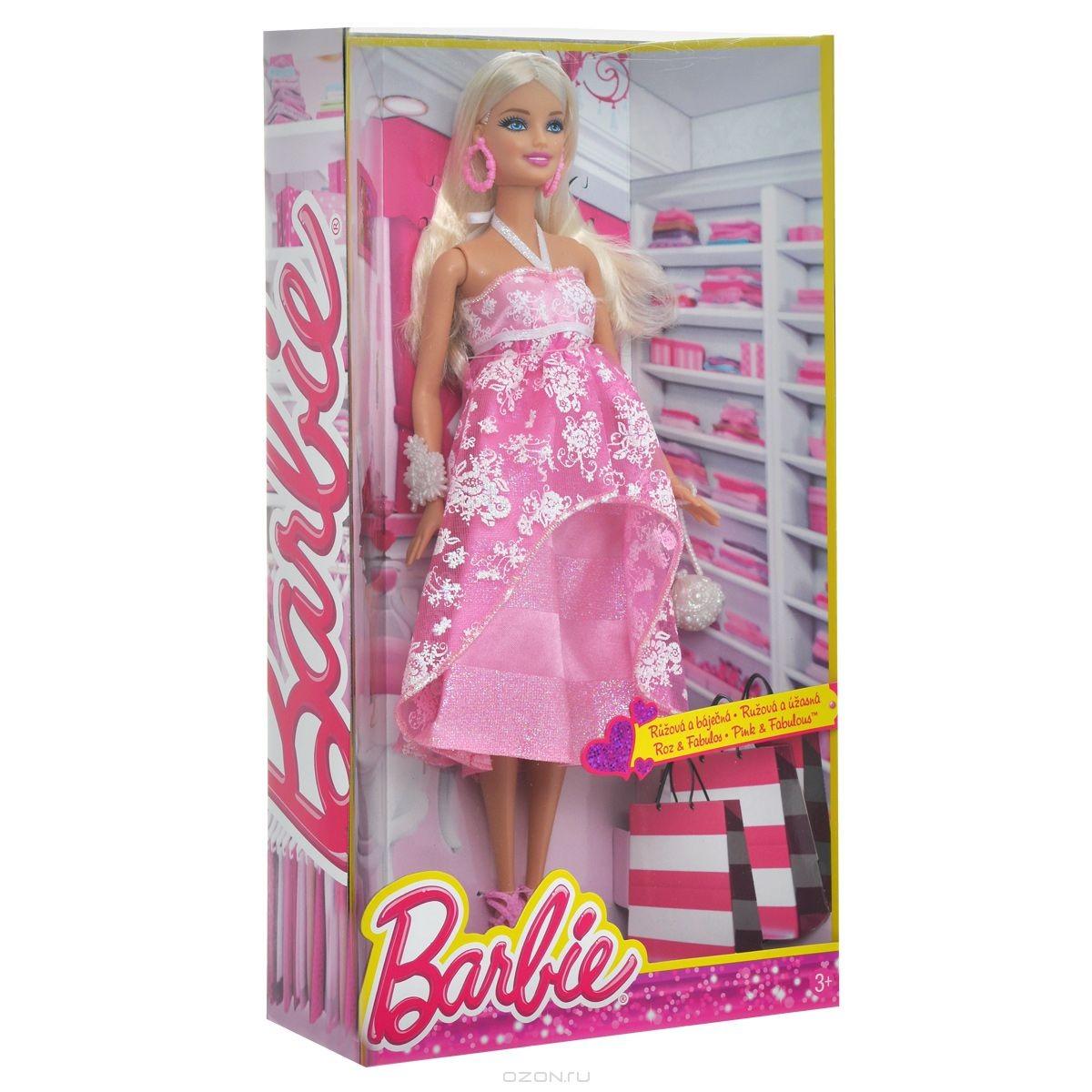 Кукла Барби в розовом вечернем платье