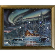 Картина с кристаллами Сваровски Северное сияние