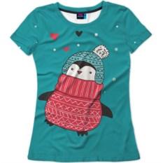 Женская футболка Пингвинчик