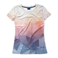 Женская 3D-футболка Геометрия