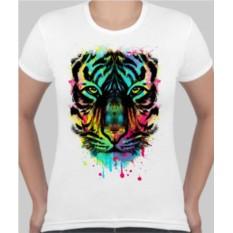 Женская футболка Тигр в краске