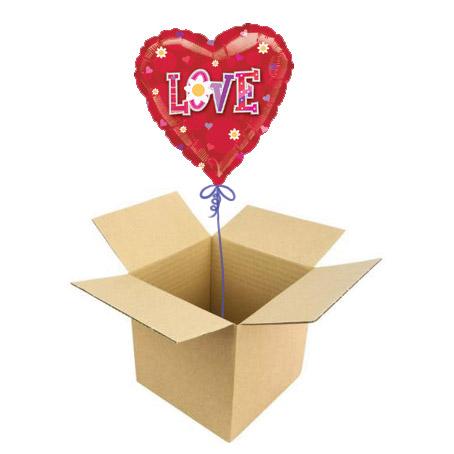Шар в коробке «Сердечко»