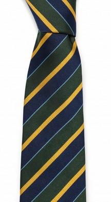 Галстук Fumagalli из шёлка (зеленая, желтая, синяя полоска)