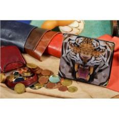 Портмоне с принтом Геометрический тигр