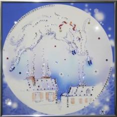 Картина с кристаллами Сваровски Над городом