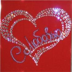 Картина Сердце (с кристаллами Сваровски)
