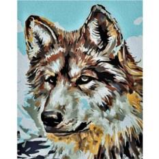 Картина по номерам «Серый волк»