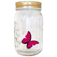 Бабочка в банке Розовая Морфо