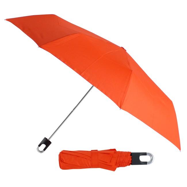 Складной механический зонт Twist, в чехле, красный