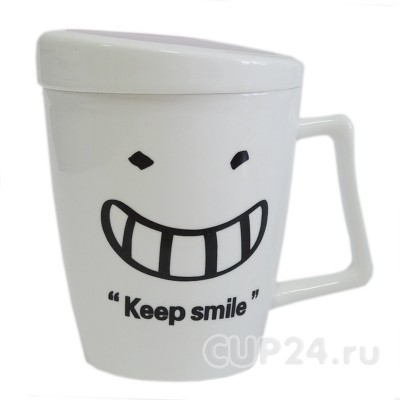 Кружка с настроением Keep smile (розовая)