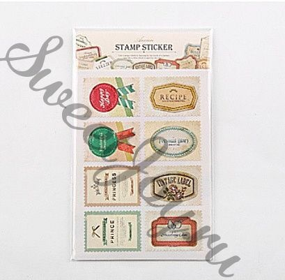 Набор наклеек Ancien Stamp Sticker Label