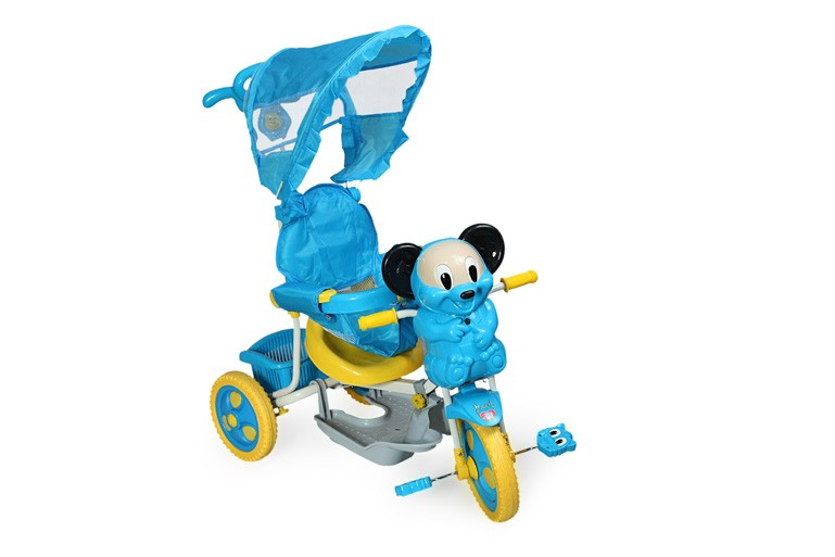Велосипед Lider Kids 8029, цвет: синий/желтый