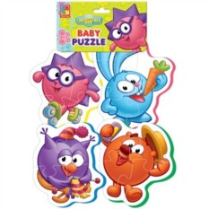 Мягкие пазлы Baby puzzle Смешарики