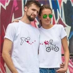 Парные футболки «След счастья»