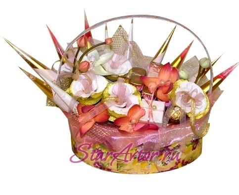 Букет из конфет Шкатулка с розами