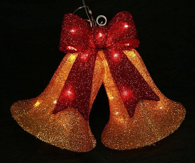 Новогодняя фигура Колокольчики с подсветкой
