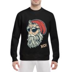 Мужской свитшот Hipster Santa