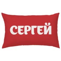 Красная подушка с вашим именем