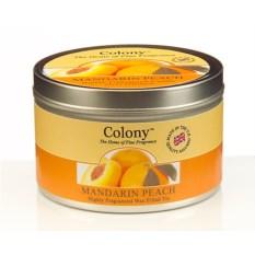 Ароматическая свеча в железной банке Мандарин и персик