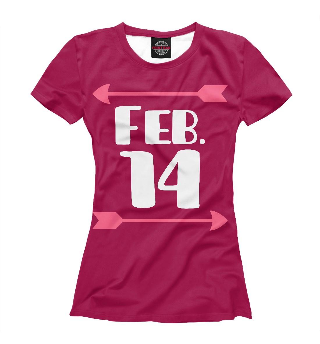 Женская футболка День Св. Валентина с изображением стрелы