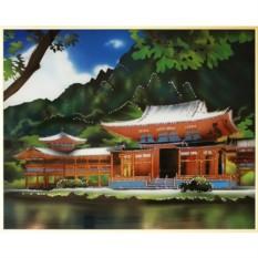Картина с кристаллами Swarovski Японский домик
