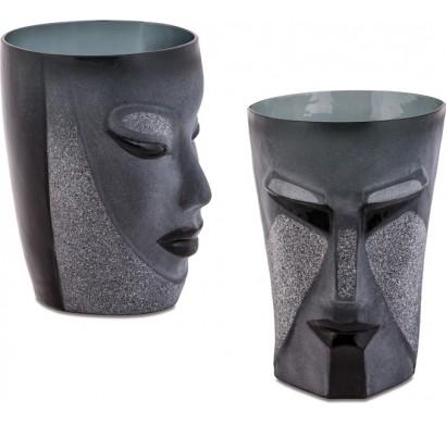 Набор черных бокалов Kubik&Electra