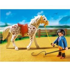 Конструктор Playmobil Country Pony Ranch Лошадь со стойлом