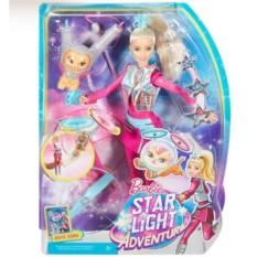 Кукла Barbie и космические приключения с котом Попкорном