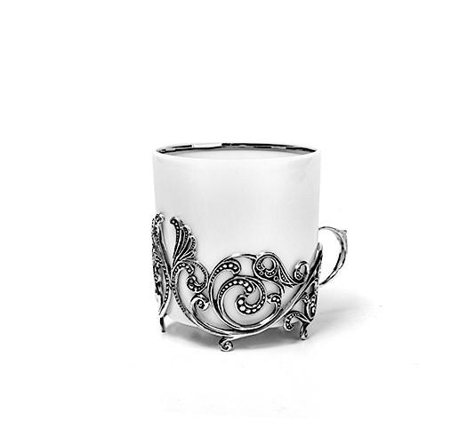 Чайная чашка из серебра Витая