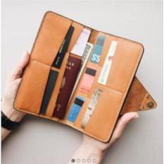 Портмоне-конверт для путешественников (цвет: оранжевый)