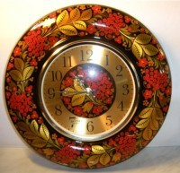 Часы настенные Весна хохломская роспись